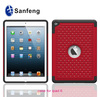 Red pc and soft silicone case cover for ipad6 ipad air2