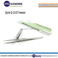 Quick multi function fine point tweezers for eyelash or mobile phone repair Q-11