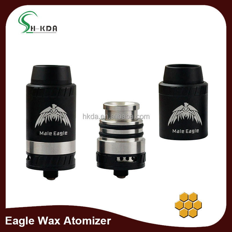 2017 best and new ss subohm 0.16 coil Eagle dab wax atomizer for kit wax vape pen