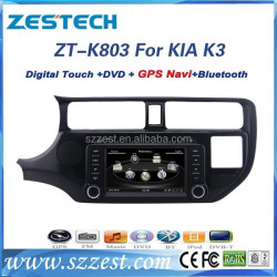 ZESTECH best price Car Sat Navi headunit for KIA RIO Car Sat Navi headunit with GPS,Radio,BT,RDS,3G,V-10disc+factory