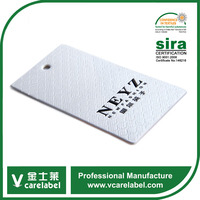 Nice Cheap Customized Clothing Swing Tags With Woven Label