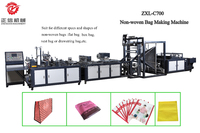 Hot sale 700 model automatic non woven Stereo bag nonwoven box bag non-woven bag making machine