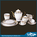 dinner set in plating gold design wwd-130115