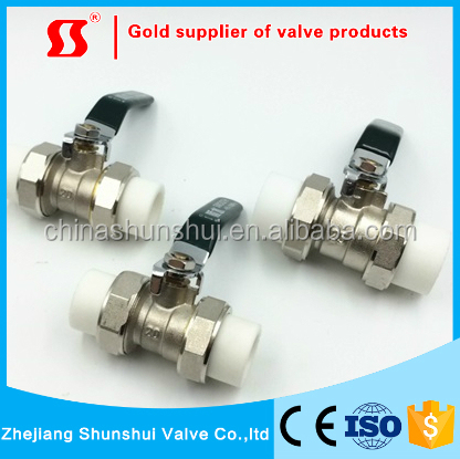 SS30101 PP-R Brass Ball Valve from yuhuan shunshui valve factory
