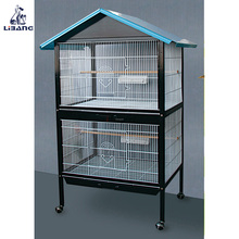 Wholesale Large Metal Chrome Bird Cage With Four Wheels