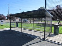 High tensile Sport court rhombic mesh green coated chain link fencing