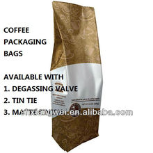 coffee bags packaging manufactured from FDA certified materials only