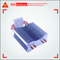 Aluminum heat sink with 2 pcs heatpipe,Customized requirements are highly welcome