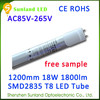 Isolated driver 2ft/4ft SMD2835 CE ROHS mcob 18w t8 led tube light hot sex tube 2014 t8 led tube