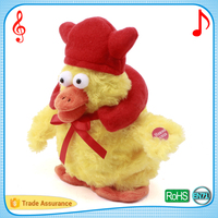 Dancing and singing puppet with christmas hat custom songs christmas toys and gift