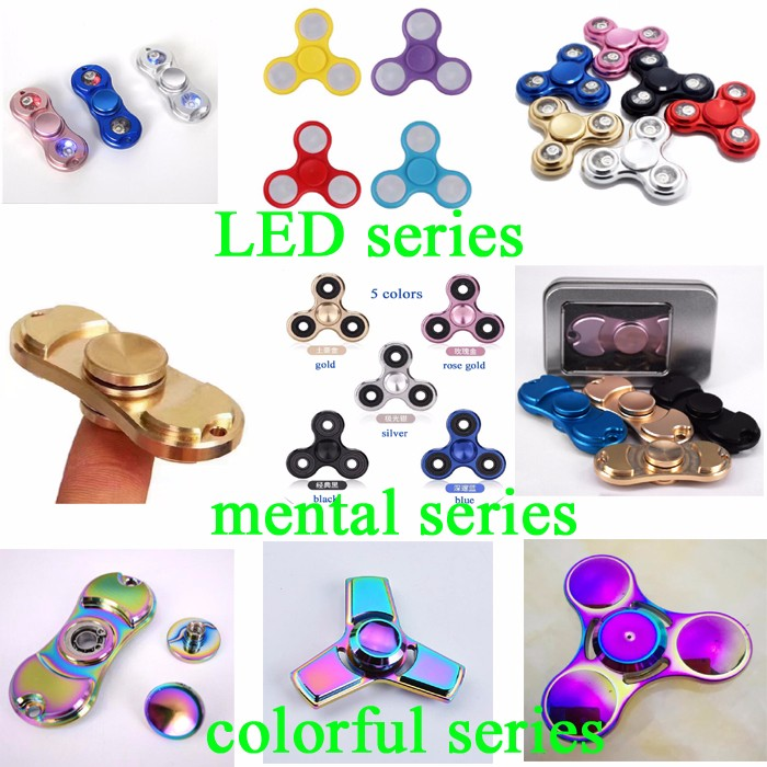 paypal accept durable EDC mental bearing speed tri fidget toy Fingerl spinner