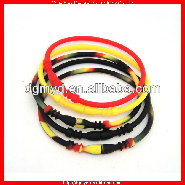 Germany style silicone bracelet connector (MYD-2048)