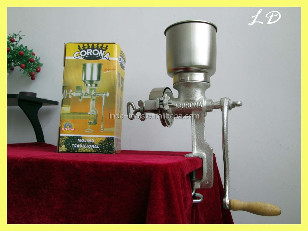 cheapest manual hand operated corn grinder(factory)grain mill