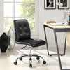 Modern Armless Design Mid Back PU Office Desk Chair