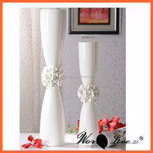 Wholesale decorative white ceramic home decor porcelain wedding vase