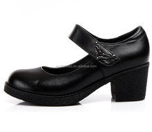 famous name brand middle heel women genuine leather dress shoes