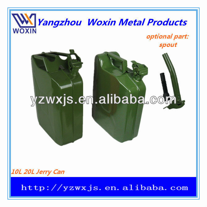 20L red color metal jerry can/auto spare fuel tank/oil drum/gasoline bucket