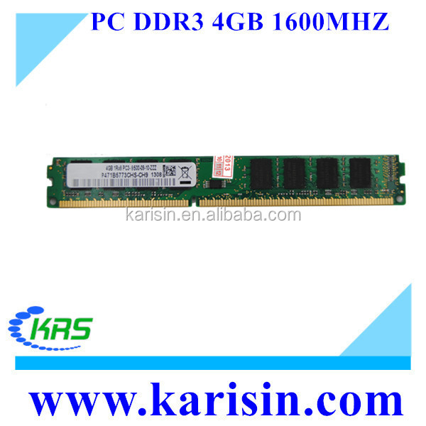 New and cheap price PC3-12800 1600mhz ddr3 4gb long dimm ram with free retail packing