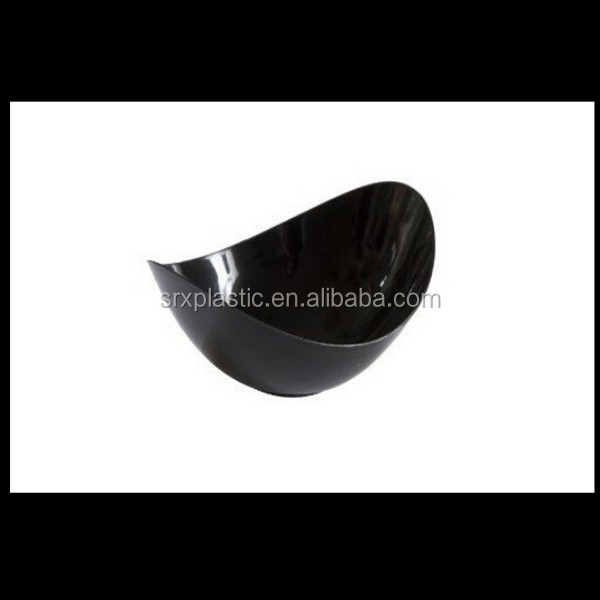 Mini Ware Plastic Disposable Oval Dish Black plastic plates dish wholesale,custom plastic dishes plates manfuacturer