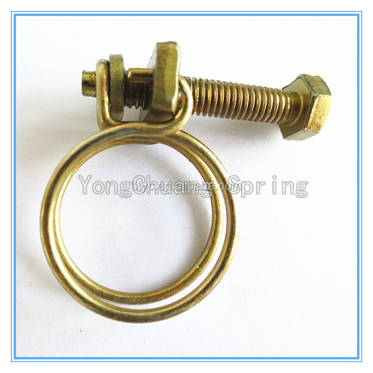 Spring wire pipe clip galvanized steel hose clamp