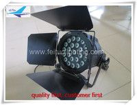 (6pcs)free shipping high quality 24x15w par led outdoor with barn door 5in1 led par light