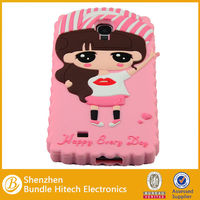 Wholesale Fancy 3D Silicon Soft Back Cover for Samsung S4