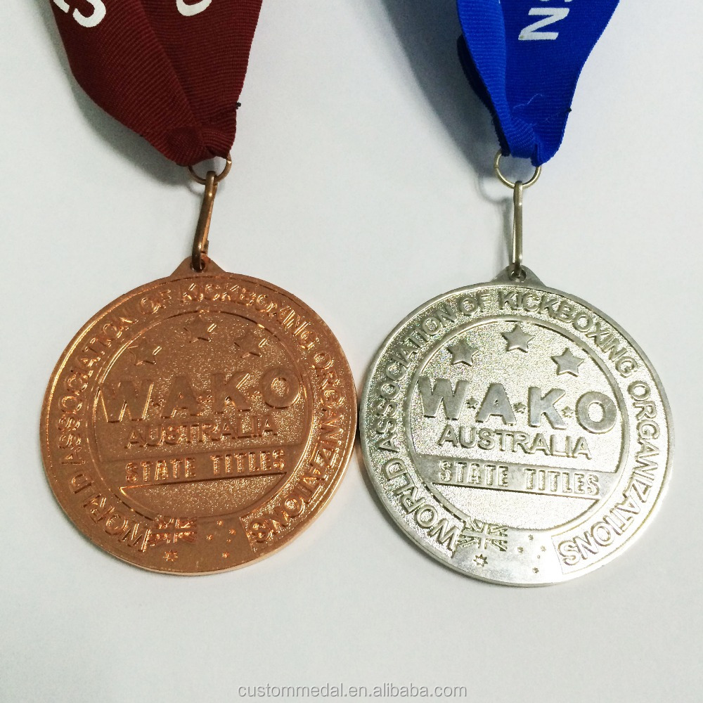 zinc cast custom medals as symbol of an association with 70% air freight discount by paypal