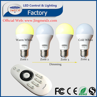 Color temperature CCT change switch on-off led light bulb 6W Linear dimmable on Color temperature and brightness