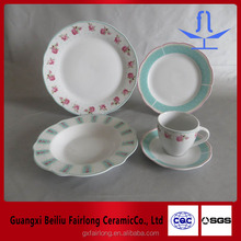 20 pcs lotus shape dinner set porcelain--wave shape