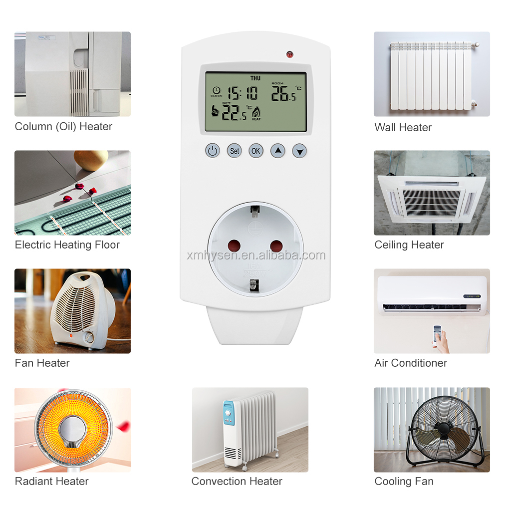 HY02TP Plug in Heating Thermostat Electronic Digital Temperature Controller