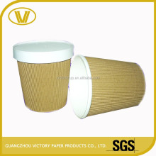 hot kraft soup paper cup with sleeve and colorful promotional soup cup