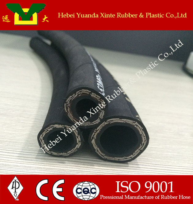 -6 AN AN6 Nylon Stainless Steel Braided Fuel Oil Line Hose Black Sold by Foot