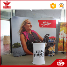 Programmable large format printing pop up banner display stand fabric art exhibition