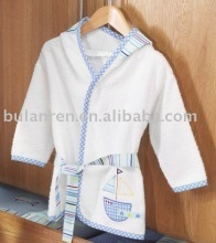 100% terry cotton robe for girls/children bathrobe
