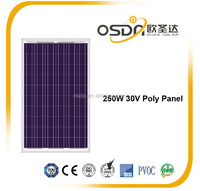 Great number stock solar panel 250W in china