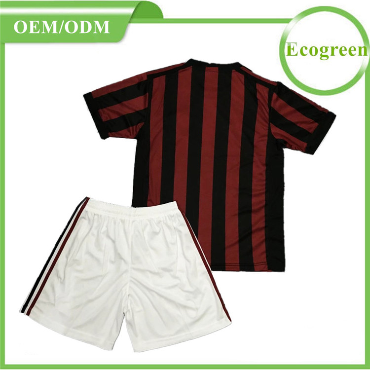 Wholesale 2017 2018 season sublimation soccer jerseys red white AC Milan soccer jersey