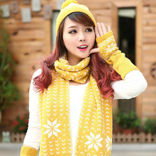 Christmas New Year Scarf Hat Glove 3 Pcs Set Thick Warm Fashion