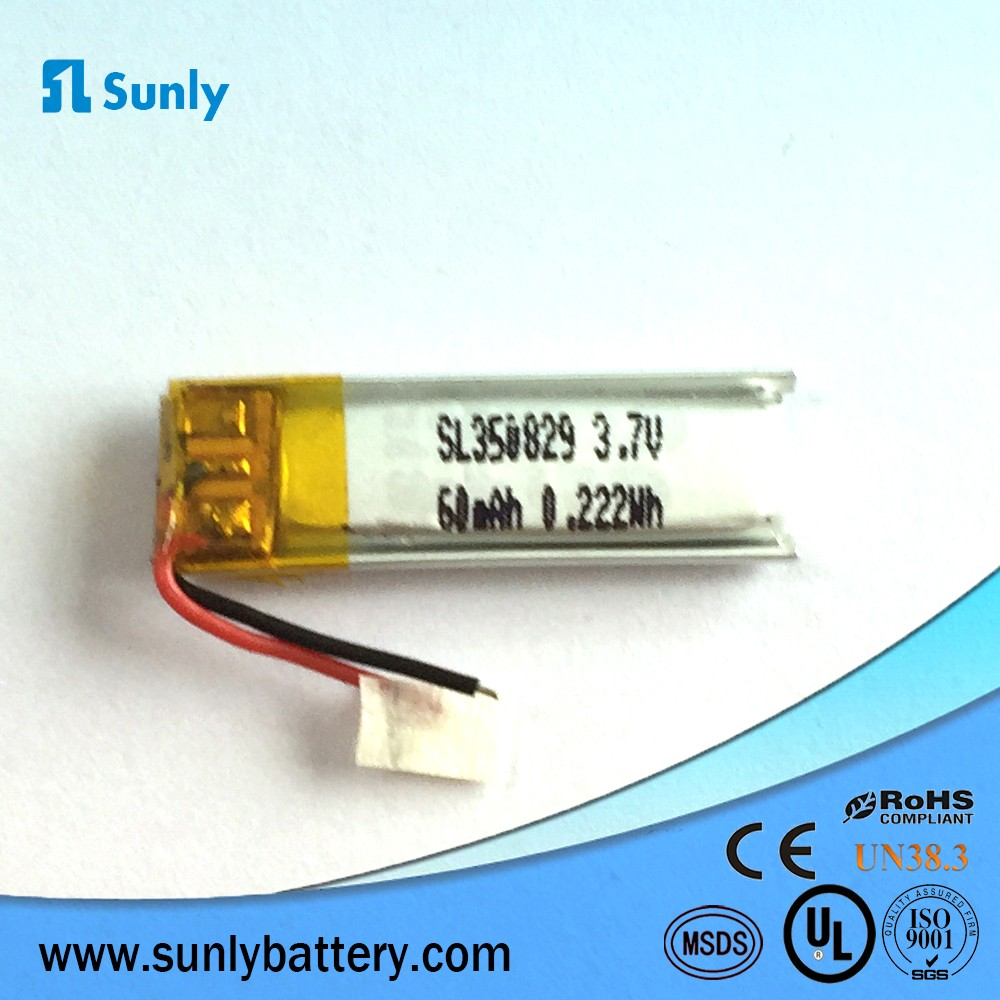 400917 3.7V 40mAh Phylion lipo battery with NTC