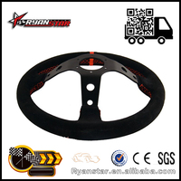 Ryanstar 14inch 350mm Racing Car Suede Leather Steering Wheel
