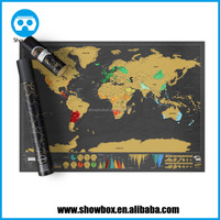 World Travel Map Scrape-Off Edition, includes Special Tool to Scratch Off the Map and Magnifier, Excellent Gift