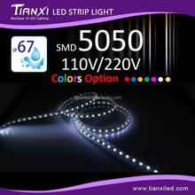 Made in Taiwan Landscape Multiple Colors Option AC110V/220V Plug SMD 5050 LED Flexible Strip