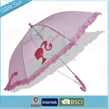 Small Size Full Printing Stick Kids Cheap Price Bright Colored Umbrella