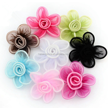 Decorative 3d tissue stapelia fabric flowers for hair accessories