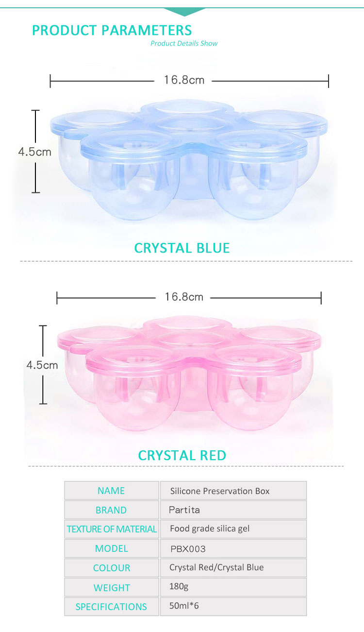 300ml Food Grade Silicone Baby Food Storage Flower Decor Reusable Container