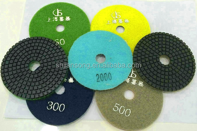 DT001 4 Inch 3mm Velcro Attached Polishing Pad