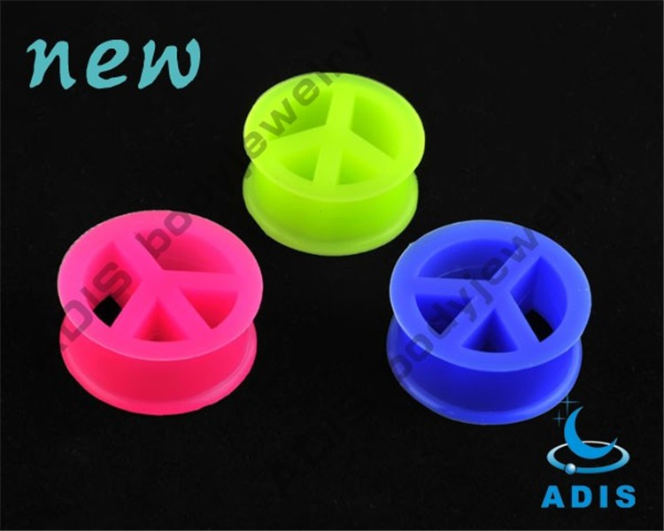 Star shaped silicone ear plugs piercing jewelry expanding plug