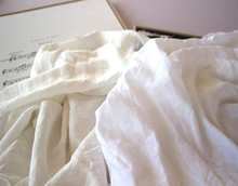 factory price 100% natural washed pure white linen fabric