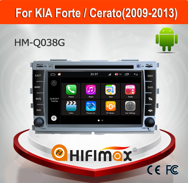 Hifimax Andriod 7.1 DVD GPS Navigation System For KIA Cerato(2009-2013)/ Forte Touch Screen Car DVD Player For KIA Cerato 2011