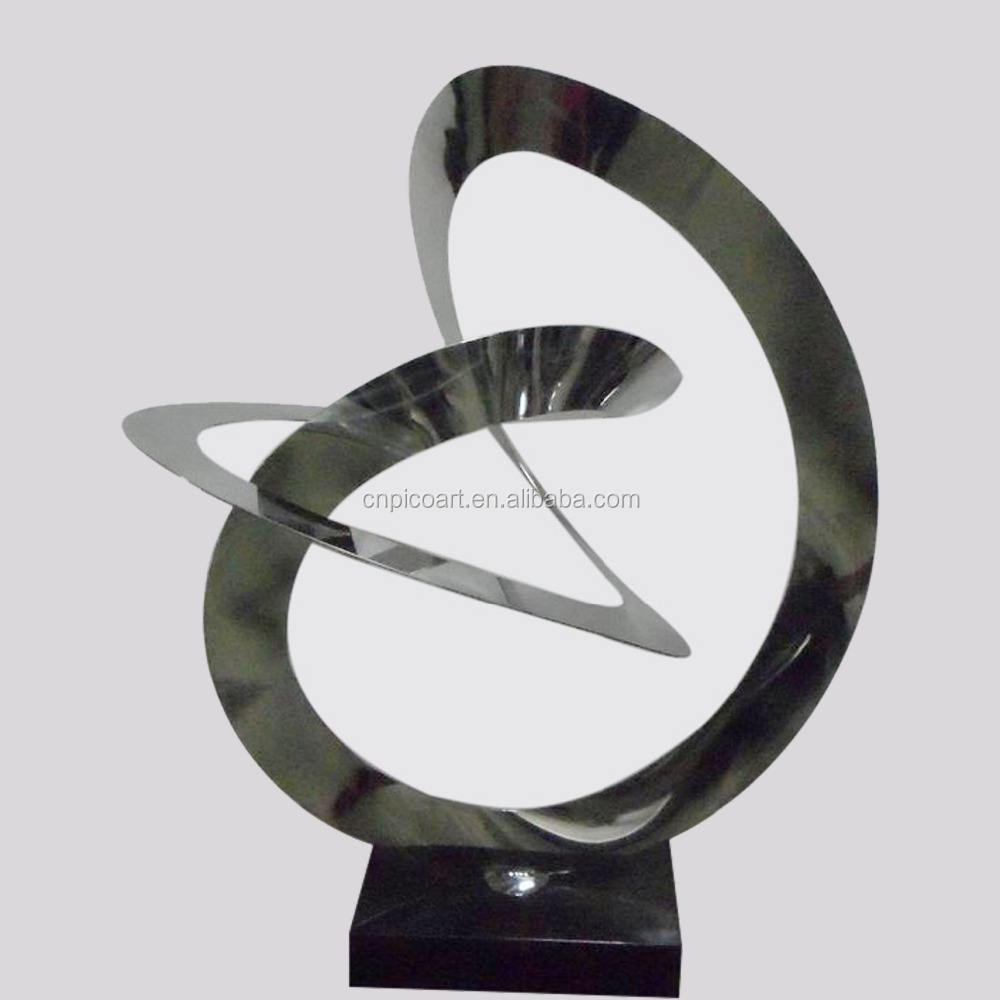 stainless steel outdoor decorative sculpture