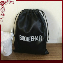 new style black bag high quality customize silk drawstring satin bag